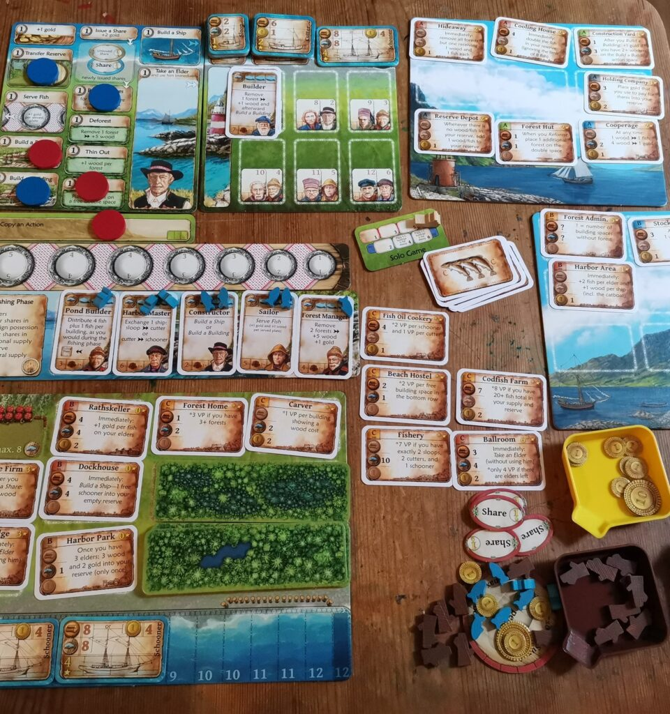 a view of a finished solo game of nusfjord