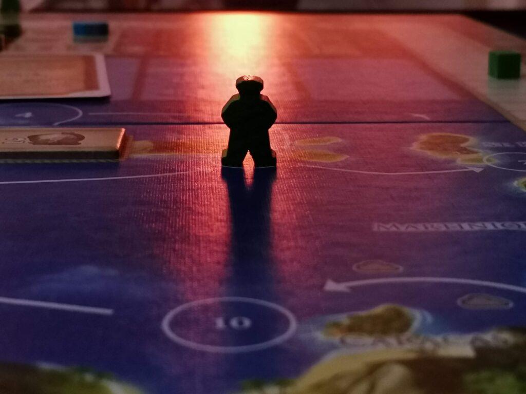 A Maracaibo meeple on the board