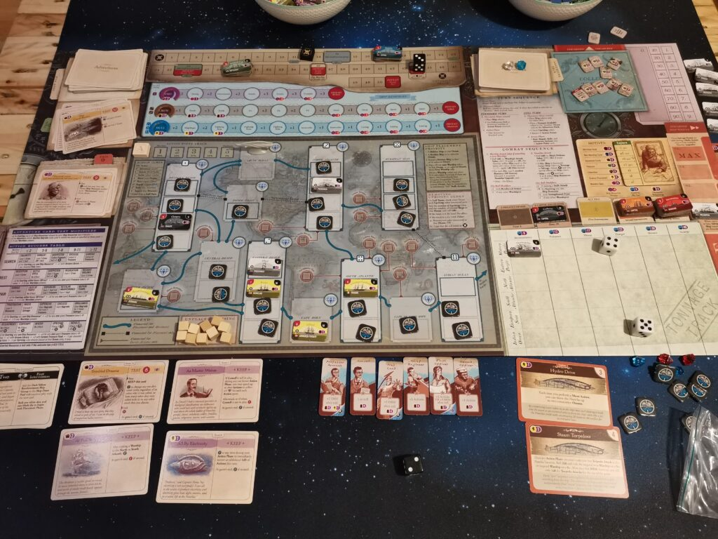Nemo's war second edition game in progress