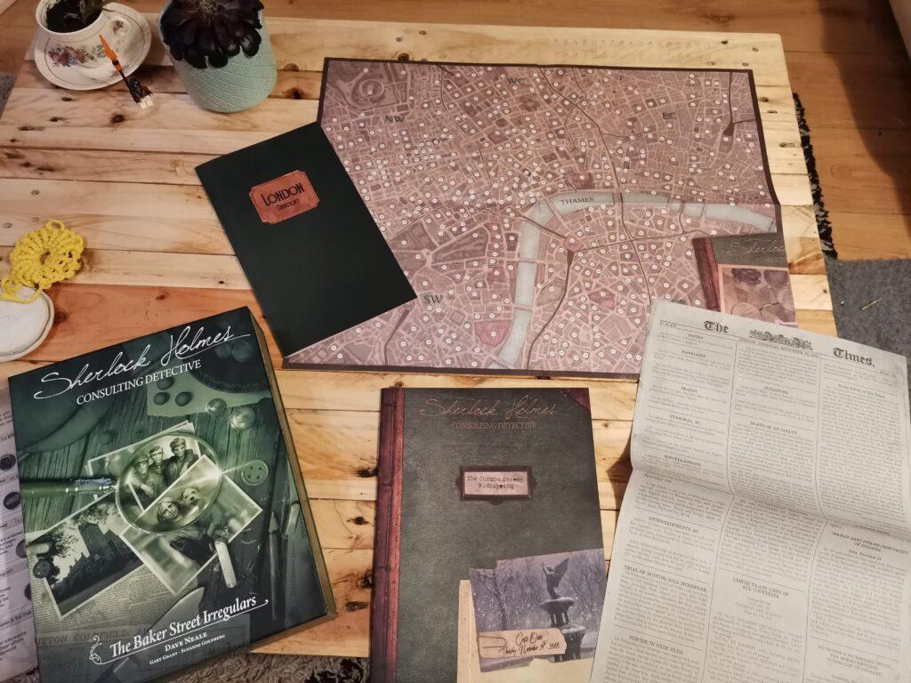 sherlock holmes consulting detective game setup