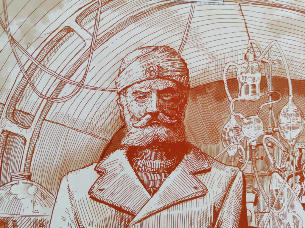 an illustration of captain nemo from the epilogue book