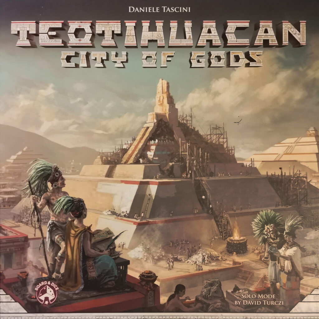 the box art for teotihuacan