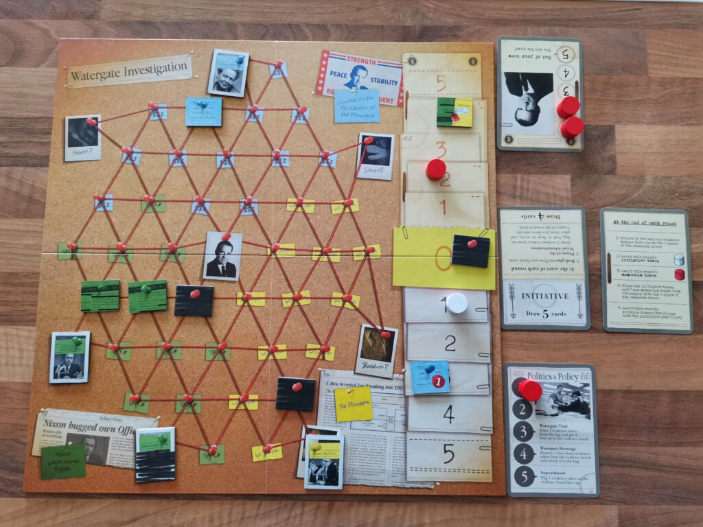 the main board of a game in progress