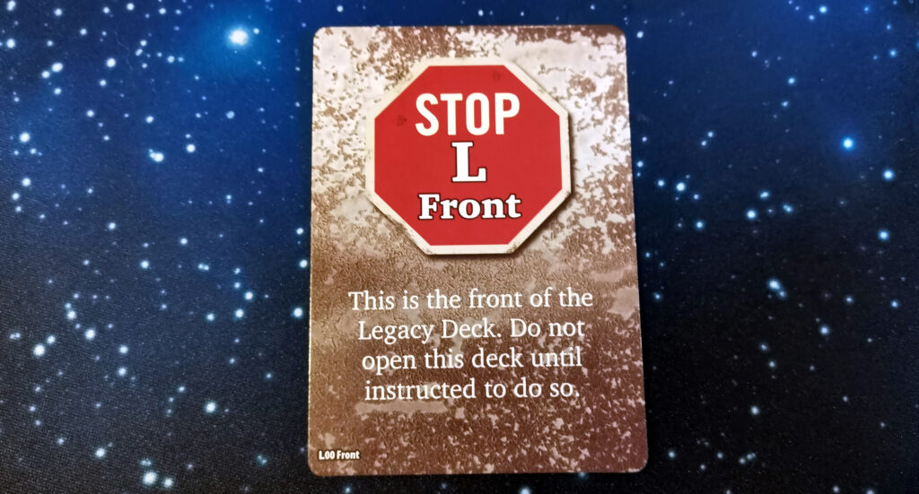 one of the stop deck cards