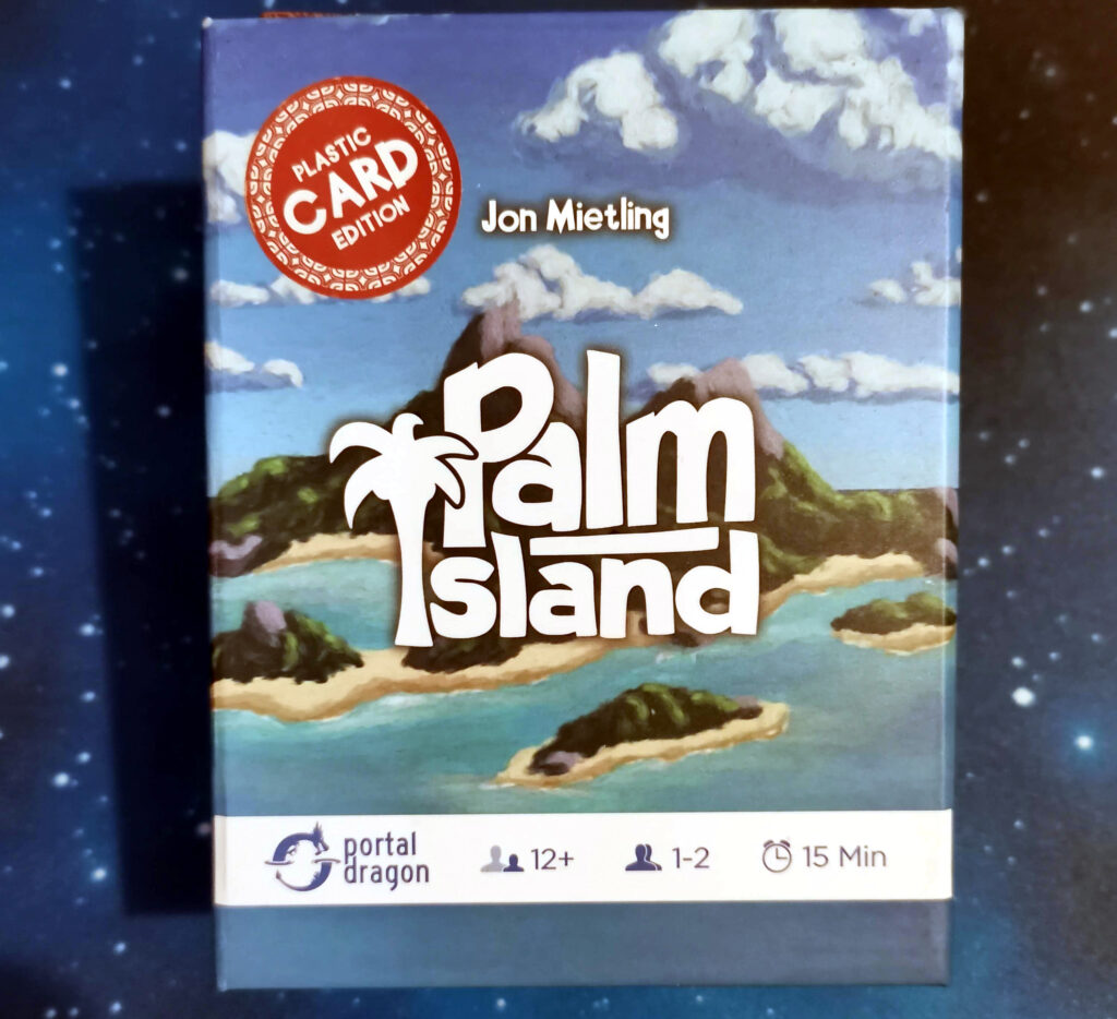 The box for Palm Island