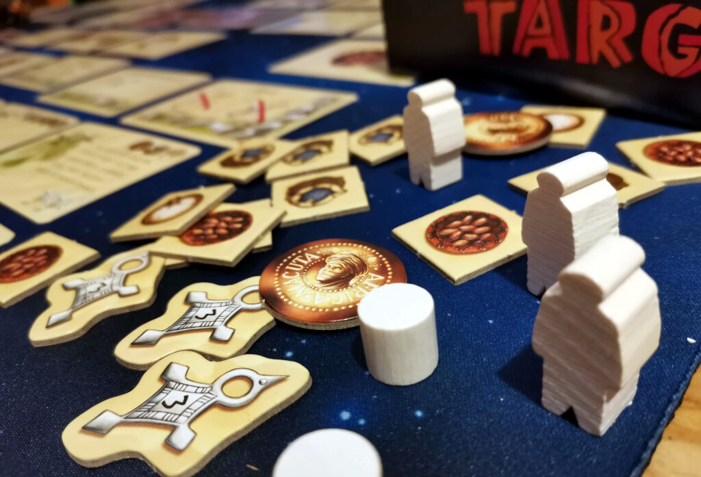 targi goods piles and player pieces