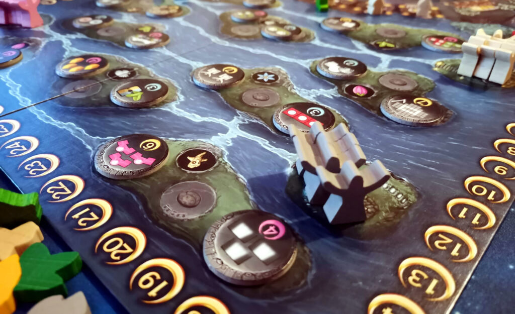 guardians, tasks and the islands at the top of the board