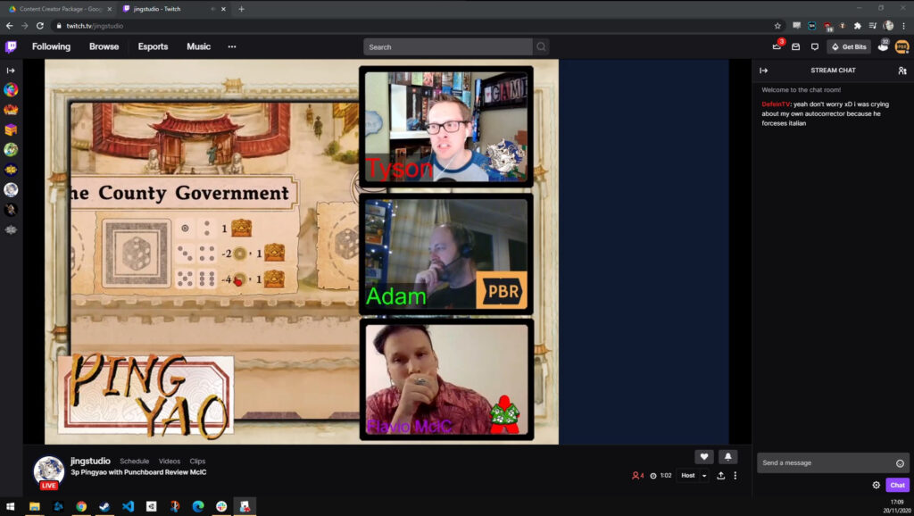 screenshot from twitch in the game