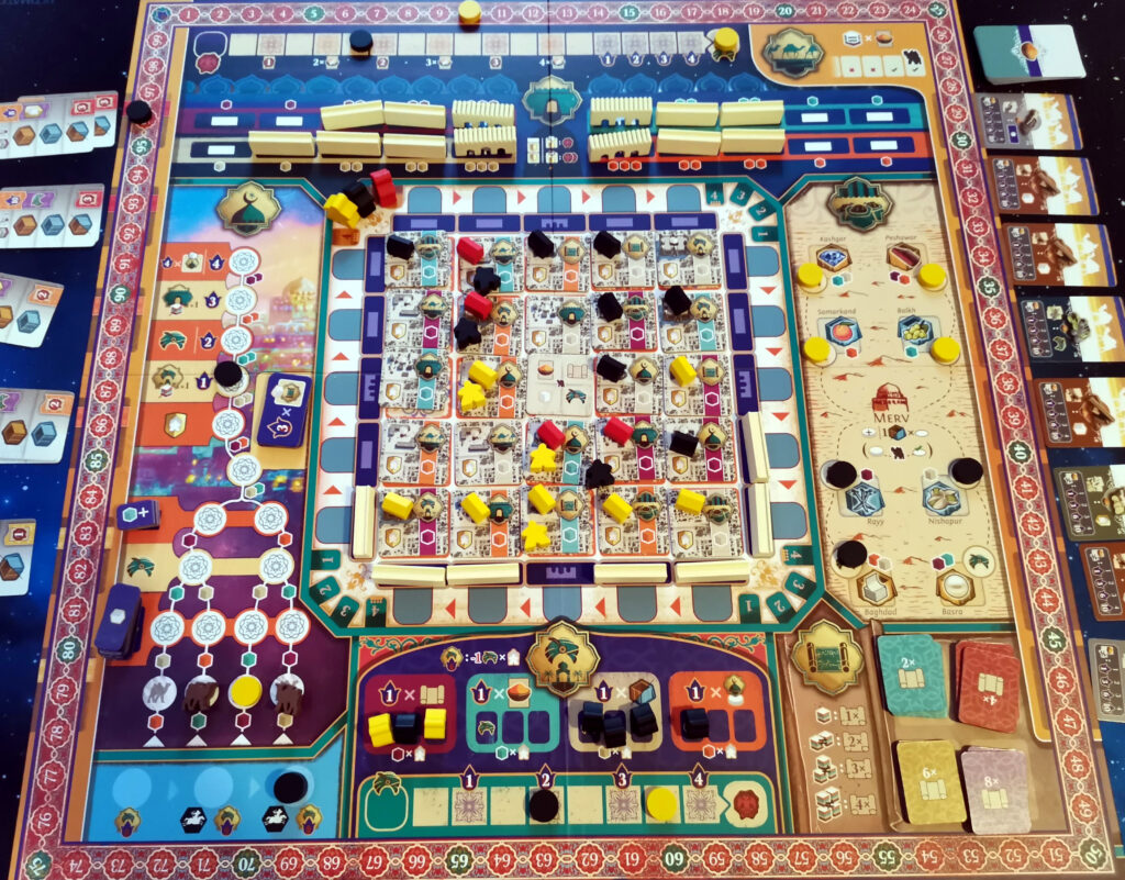 The main game board viewed from above