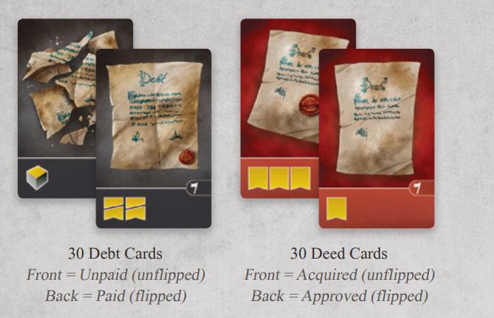 debts and deeds cards