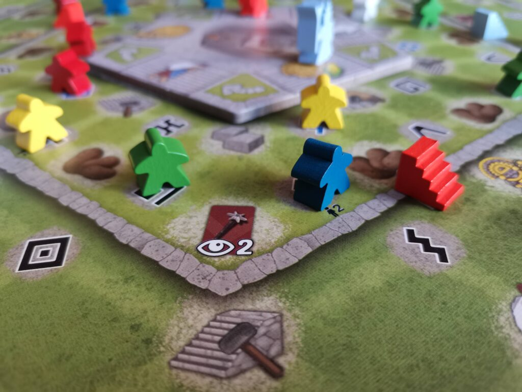 worker meeples in different colours