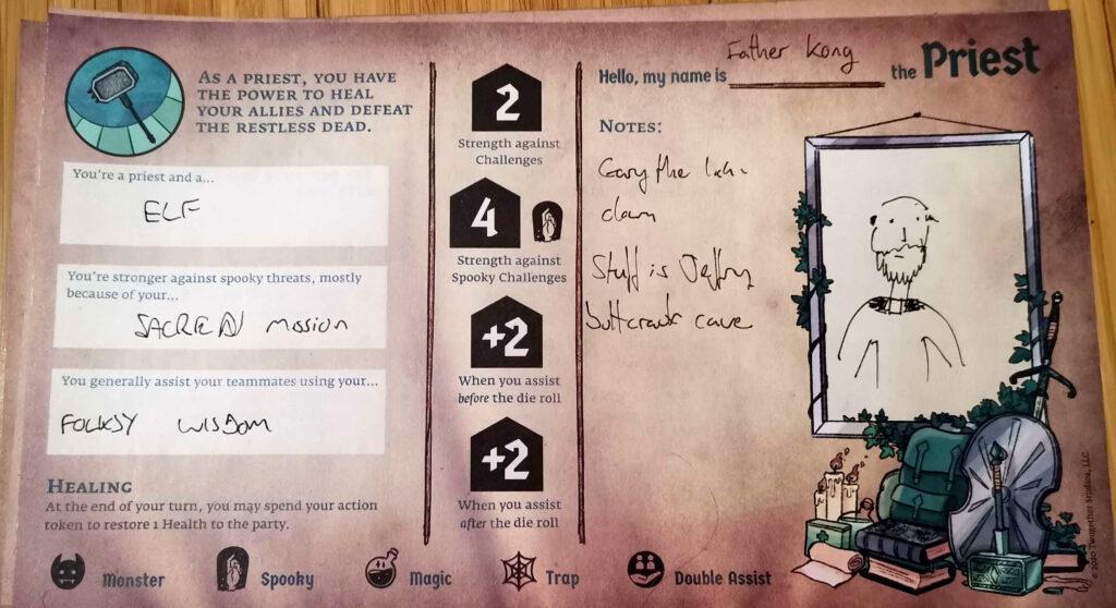 adventure zone player character sheet