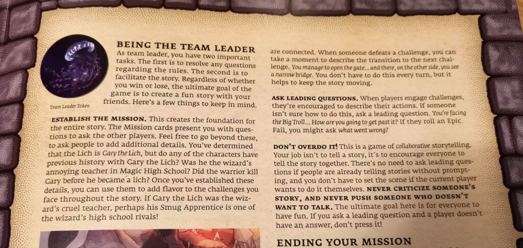 being the team leader section of the rule book