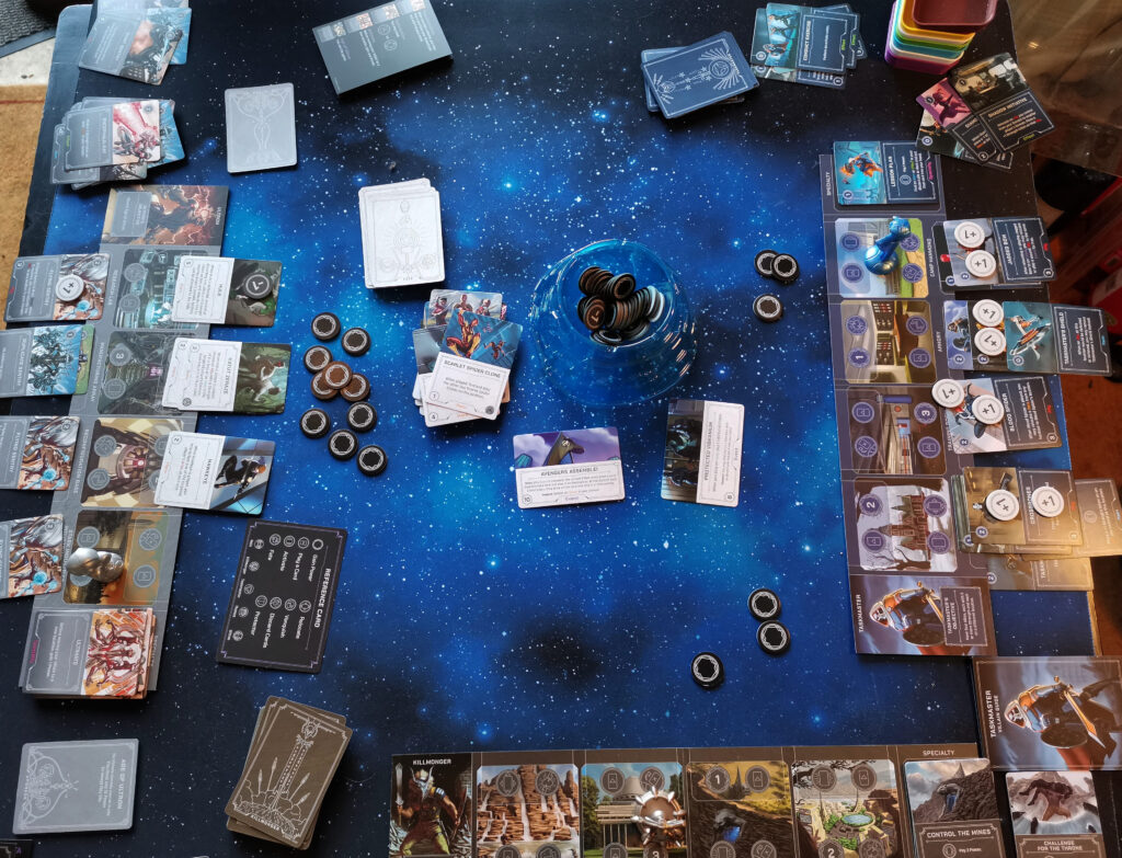 a game filling the table