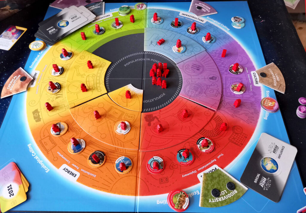 a game of earth rising, in-play