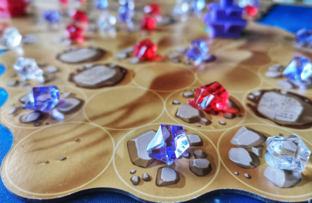 gems on the game board