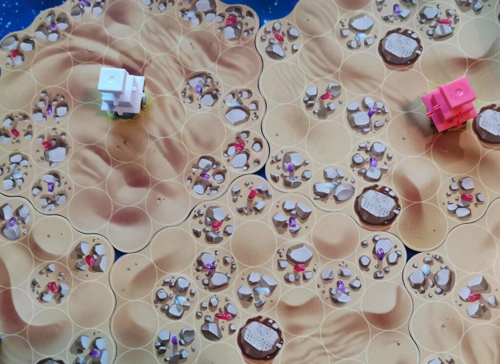desert tiles at the start of the game