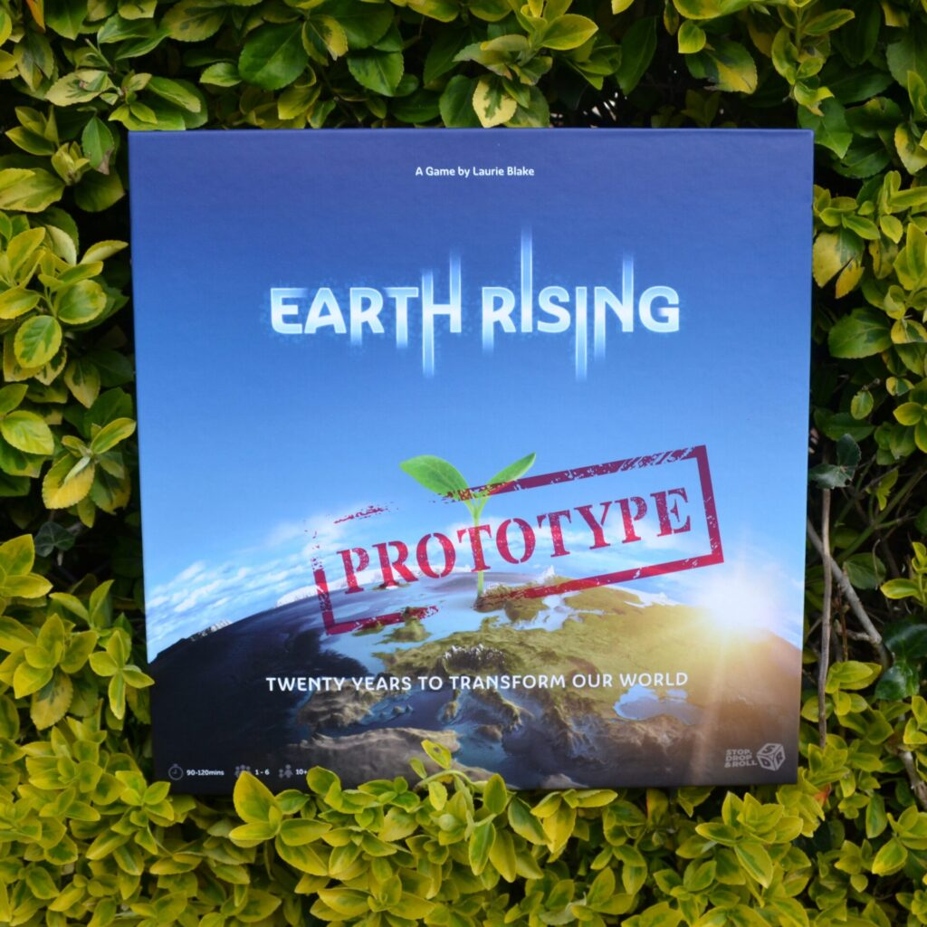 Earth rising box in a hedge