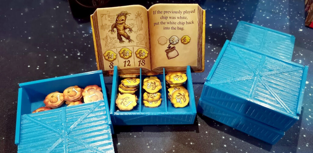 ingredient book and tokens