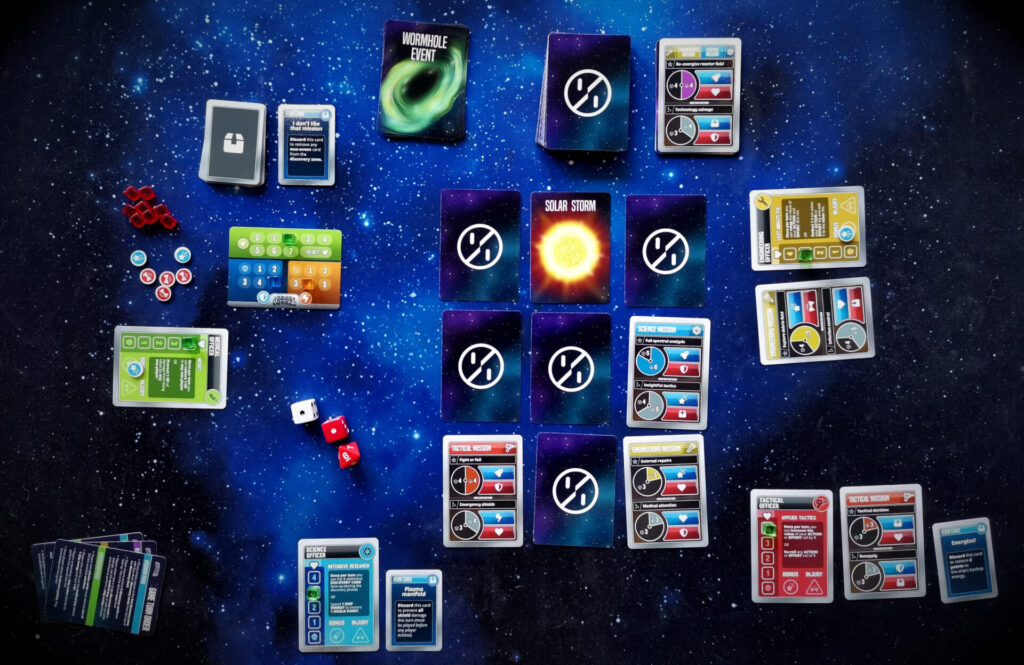 a game of Cosmic Voyage in progress