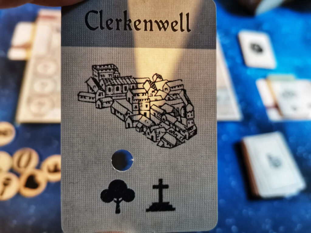 clue card with a hole in it