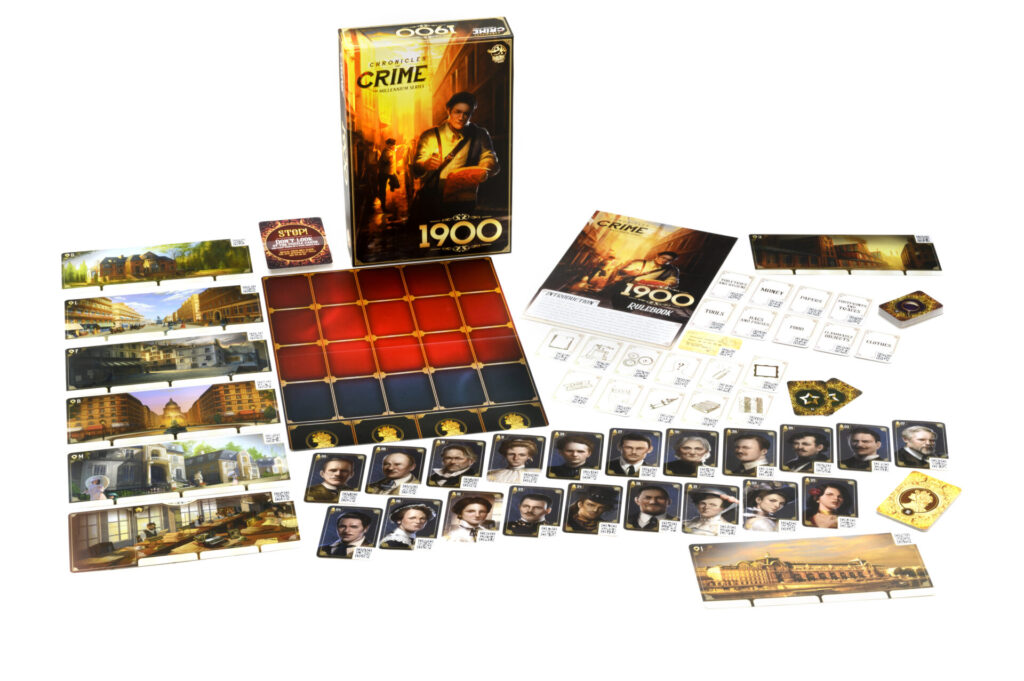chronicles of crime 1900 box contents
