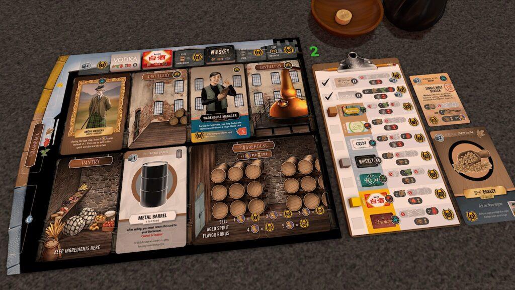 distilled player board