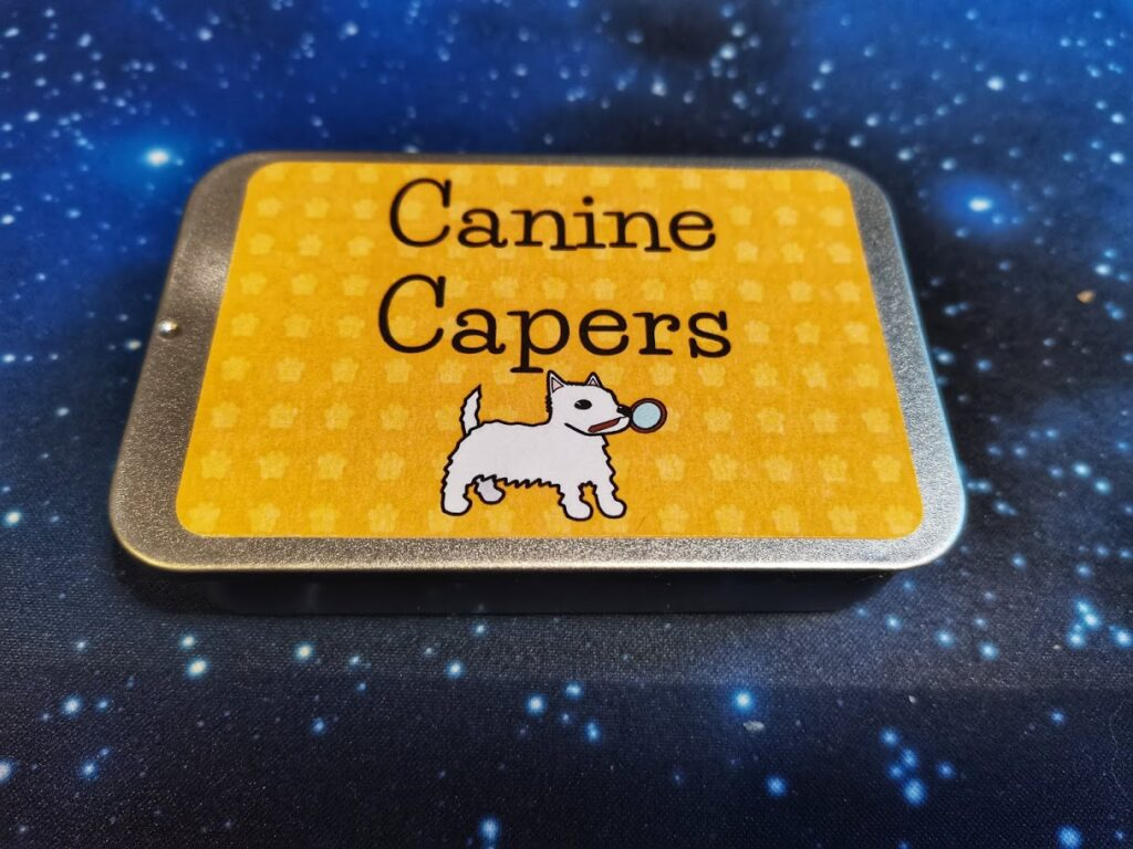 canine capers mint tin
