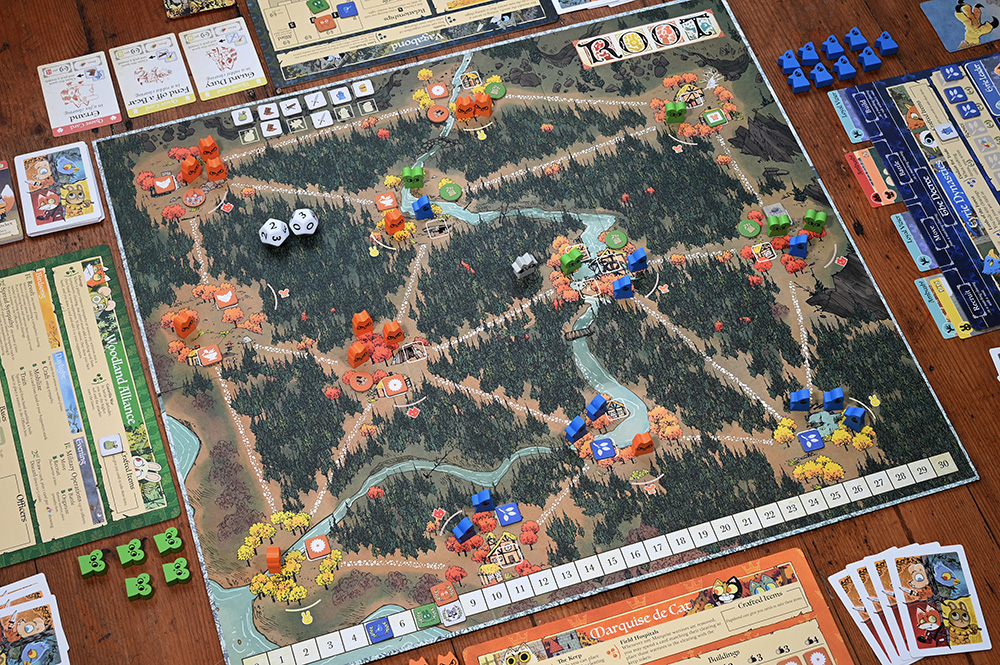 four player game in progress