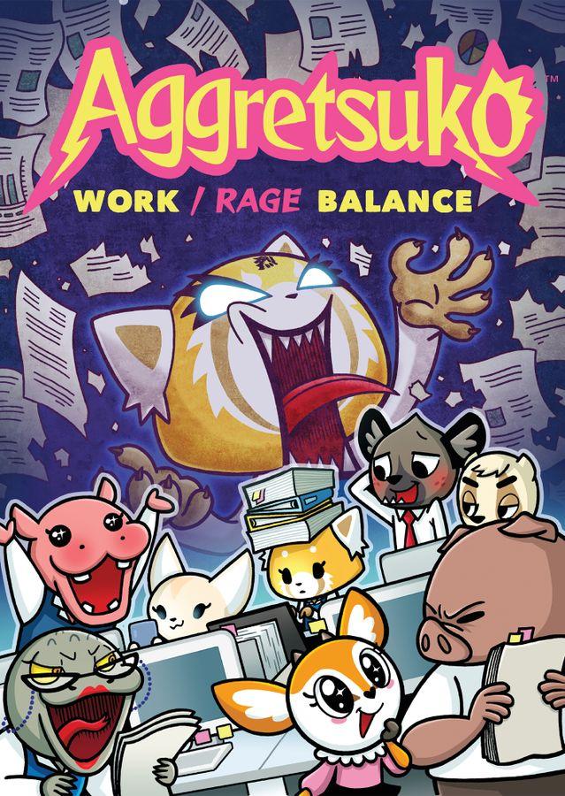 aggretsuko work rage balance box art