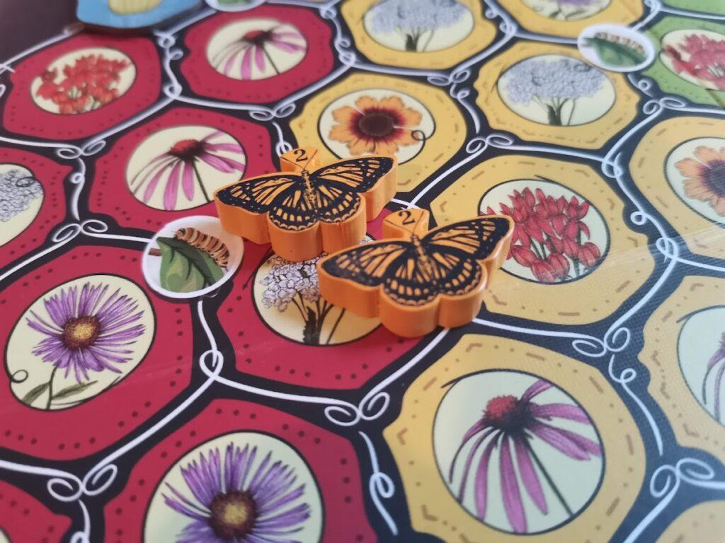 butterflies on the board