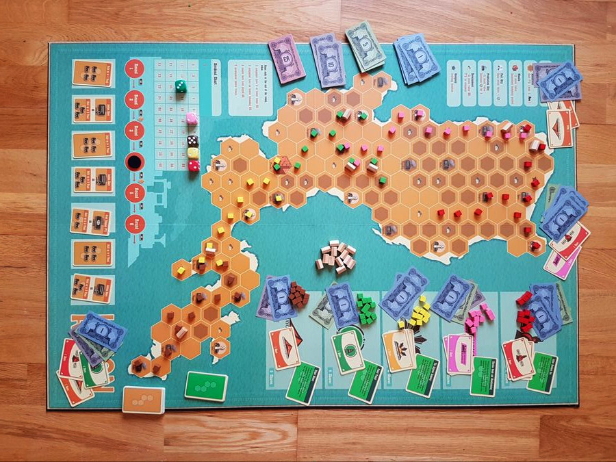 a game of luzon rails in progress
